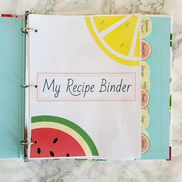 Recipe Binder With Free Printables
